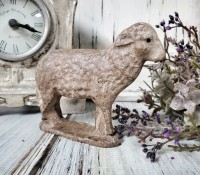 Mini Antique Inspired Rustic Sheep Figurine