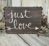 Just Love Box Sign Farmhouse Home Decor Accent - Valentines Decorations