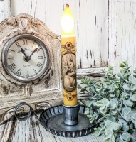 Vintage Inspired White Bunny Handmade Spring Timer Taper Candle