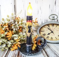 Vintage Inspired Flying Witch Timer Taper Candle