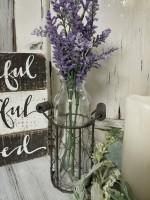 Farmhouse Bottle with Lavender Flower Set