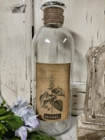 Basil Glass Decorative Herb Bottle