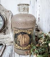 Rustic Pumpkin Patch Autumn Bottle