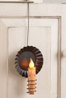 Primitive Country Hanging Wire Sconce Rustic Taper Candle Holder