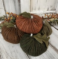 Rustic Wool Handmade Pumpkin Bowl Fillers /  Accents