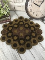 Primitive Wool Rustic Precious Wool Blend Penny Table / Candle Mat
