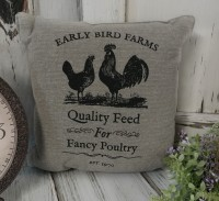 Vintage Advertising Fancy Poultry Farmhouse Chicken Home Decor Accent Pillow