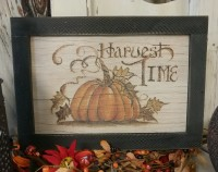 Primitive Rustic Pumpkin Harvest Time Autumn Wooden Sign