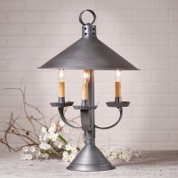 Rustic Farmhouse 3 Light Metal Table Lamp - Antique Inspired Lighting