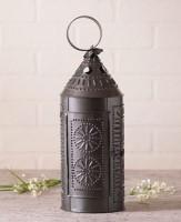 Primitive Country Punched Tin Sturbridge Lantern Candle Holder