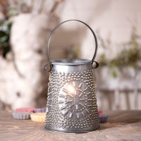 Rustic Punched Tin Tart / Wax Warmer / Decorative Electric Lantern