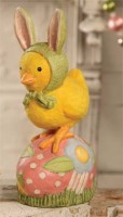 Chick Bunny on Egg - Easter Home Decoration