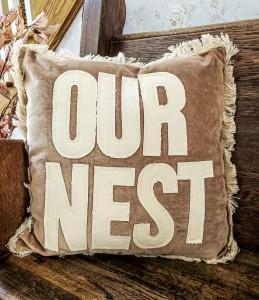 Our Nest Farmhouse Canvas & Velour