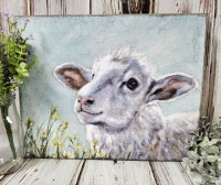 Sheep in Flowers Spring Box Sign