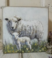 Sheep & Lamb Farmhouse Box Sign