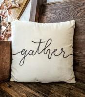 Farmhouse Velour Gather Pillow