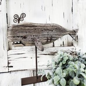 Rustic Wale Wooden Figure Lake House Decor