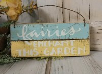 Fairy Garden Wooden Sign