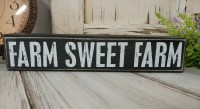 Sweet Farm Black & White Farmhouse Home Decor Message Block