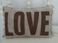 Canvas Love Rustic Farmhouse Home Decor Accent Pillow