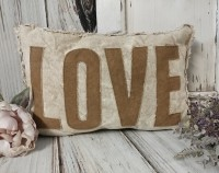 Canvas Love Rustic Farmhouse Home Decor Accent Pillow