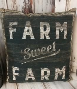 Sweet Farm Farmhouse Style Home Decor Accent Pillow