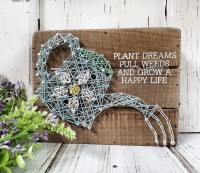 Happy Life Gardening Box Sign