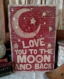 Rustic Country String Art To the Moon Wooden Box Sign