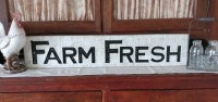 Farmhouse Country Farm Fresh Carved Sign