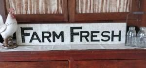Farmhouse Country Farm Fresh Carved Sign
