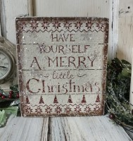 Have a Merry Christmas Slat Box Sign - Farmhouse Home Decor