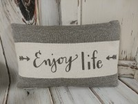 Enjoy Life Arrow Canvas Home Decor Accent Pillow