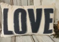 Romantic Velvet Love Farmhouse Style Accent Pillow