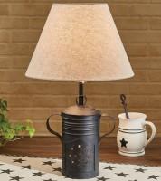 Farmhouse Milk Warmer Table Lamp with Shade