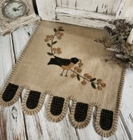 Autumn Bird with Bittersweet Branch Penny Table Runner