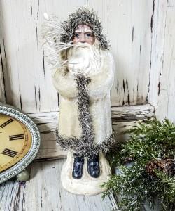 Ivory Velvet Belsnickel Old World Santa
