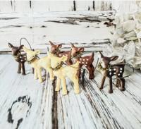 Mini Fawn Winter Ornaments Figurines