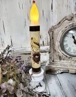 Finch & Nest Flameless Bird Timer Taper Candle