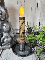 Garden Bunny Spring/ Summer Flameless Battery Timer Taper Candle
