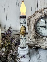 Bee Timer Taper Candle - Vintage Farmhouse Style