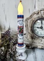 Patriotic Summer Geranium Timer Taper Candle