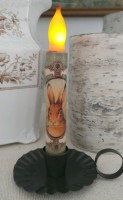 Vintage Inspired Bunny Head Flameless Timer Taper Candle