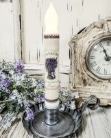 Lavender Bouquet Handmade Timer Taper Candle