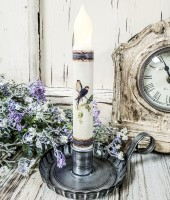 Vintage Inspired Handmade Swallow Summer Timer Taper Candle