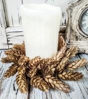 Autumn Hops Pillar Candle Ring