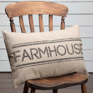 Rustic Farmhouse Print Large Home Decor Pillow