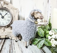 Vintage Inspired German Sheep Figure