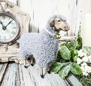 Vintage Inspired German Sheep Figure