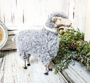 Small Vintage Inspired German Sheep Figurine
