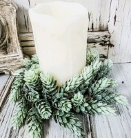 Shimmery Hops Pillar Candle Ring